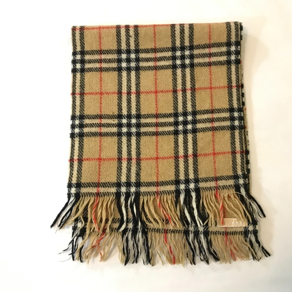 d13645573500e Burberry Accessories - Vintage Burberrys of London Nova Check Wool Scarf